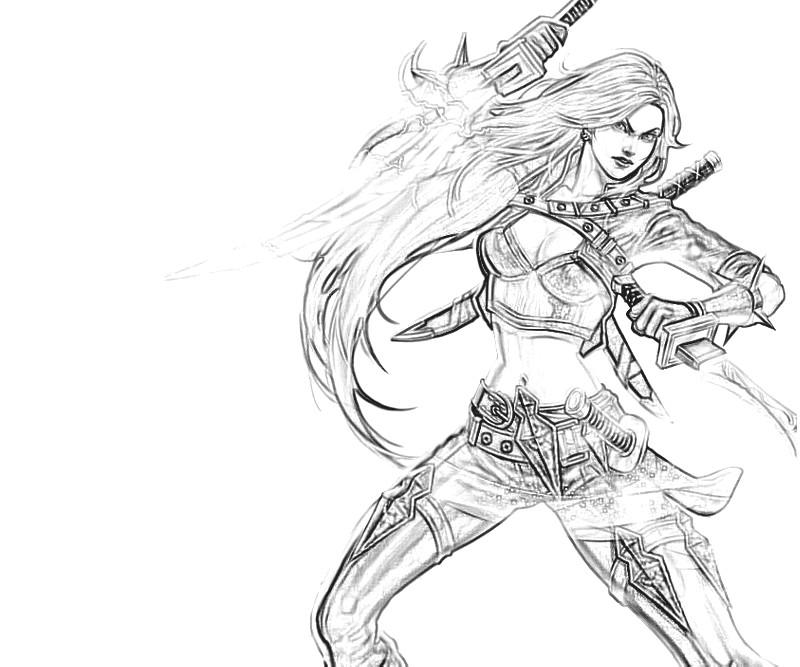 League of legends katarina skill yumiko fujiwara for League of legends coloring pages