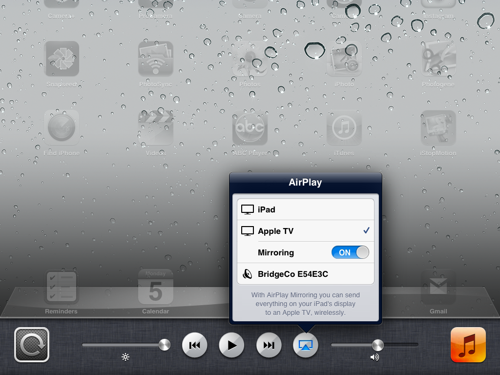 Ipad Airplay