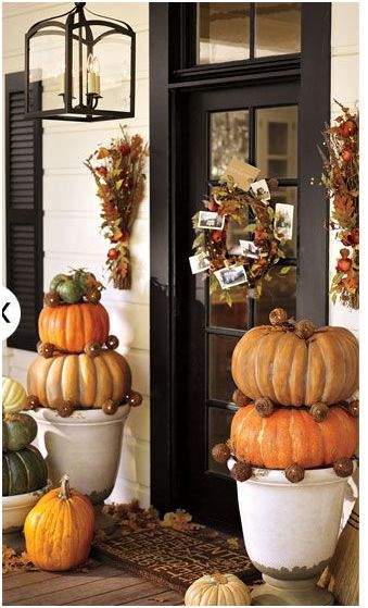 Jen uinely inspired fall decorating ideas - Fall decorating ideas for front porch ...