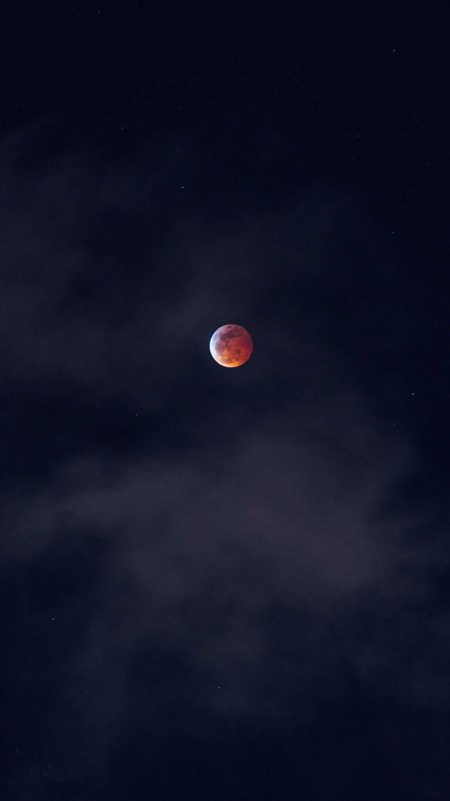 Blood moon in the night