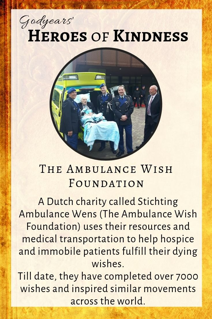 Stichting Ambulance Wens have completed over 7000 wishes and inspired similar movements across the world.