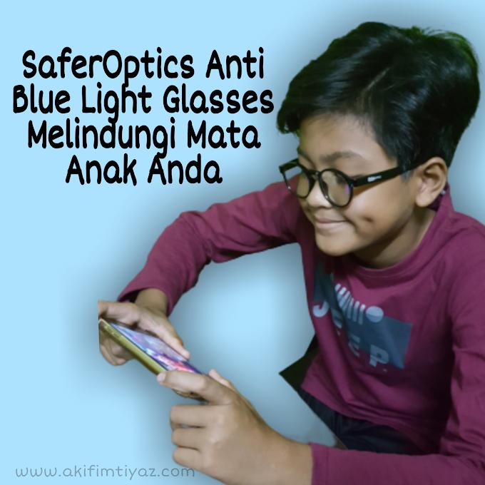 SaferOptics Anti Blue Light Glasses Melindungi Mata Anak Anda