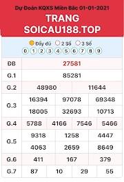 SOI CẦU XSMB 01-01-2021 - DÀN ĐỀ CHÃO CHUẨN HÔM NAY - SOCAU188.TOP