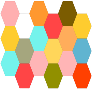 Stretched Hexies (Coffin Shape) Block for English Paper Piecing
