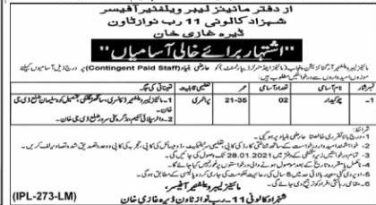 Mines & Minerals Department Punjab Jobs 2021 for Chowkidar Post Latest Advertisement