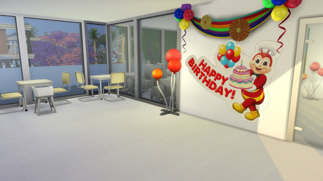 Sims 4 Pinoy Stuff Pack Jollibee Party Stickers