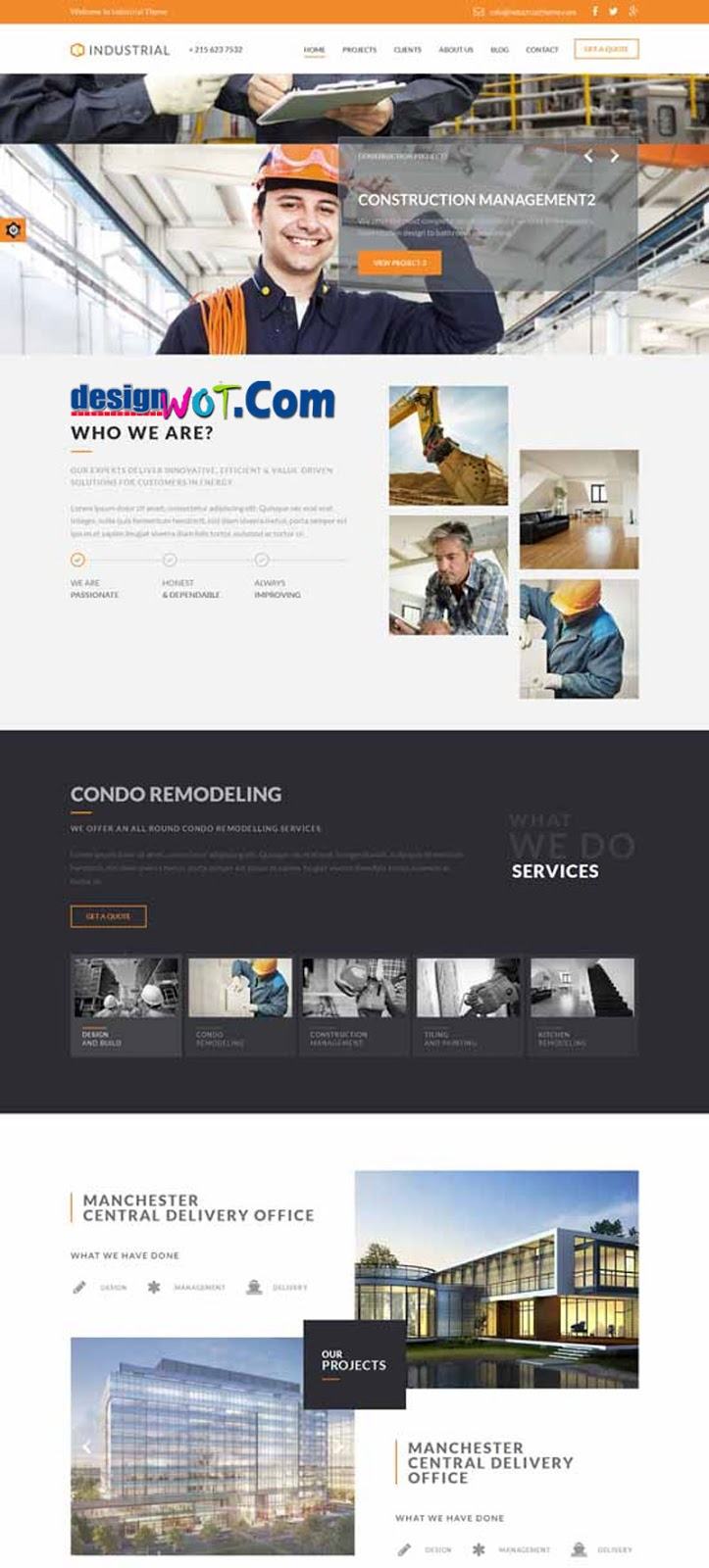 Industrial Architects Engineers HTML Template