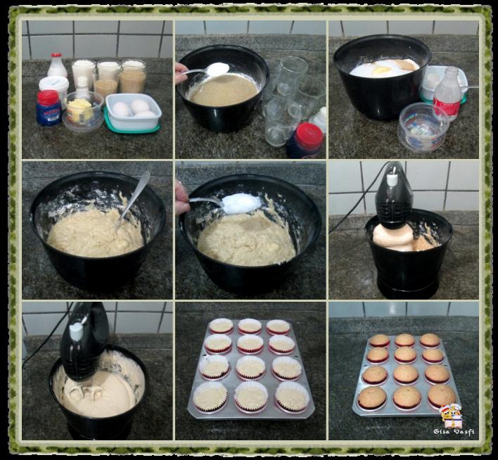 Cupcake de coco com nozes 3