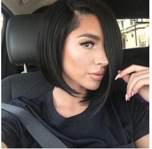 asymmetric, bob hair style ,sexy