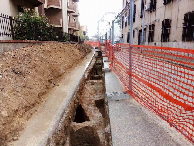 Roman era tombs revealed during sewer works in Sicily's Marsala