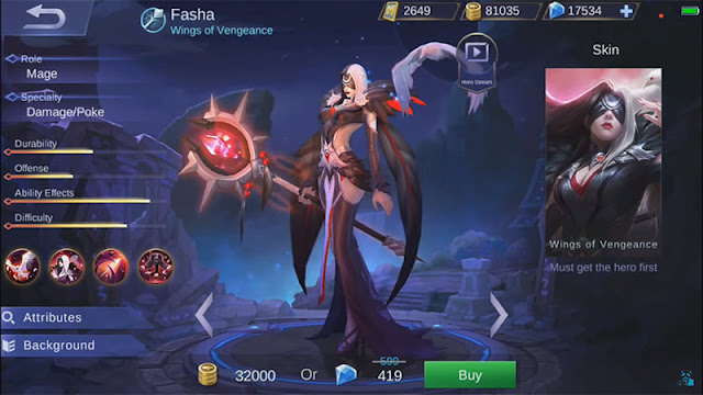 Fasha New Hero Mobile legends Release Review