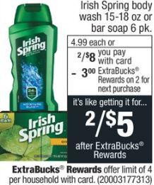 FREE Irish Spring Body Wash CVS Deal - 7/28-8/3
