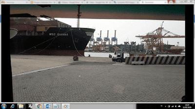 Gambar Kapal MSC Di Tg.Priok Jakarta Indonesia