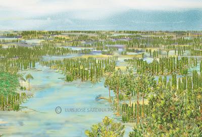 Reconstrucción de los bosques de Barruelo hace 300 millones de años