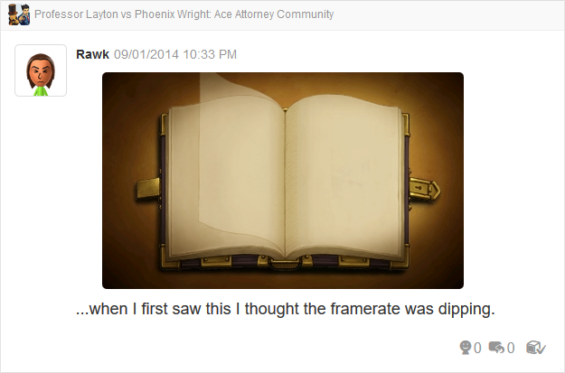 Professor Layton vs Phoenix Wright Ace Attorney book pages flipping