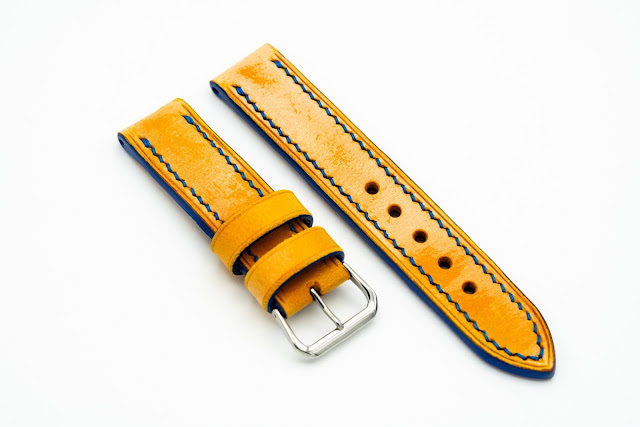 Beckett Leather Goods ready-to-wear yellow strap