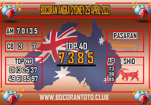 Bocoran Sydney 29 April 2021