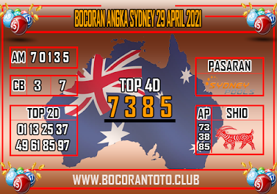Bocoran Syair Sydney 29 April 2021