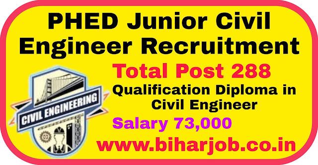 Bihar PHED Junior Civil Engineer Job