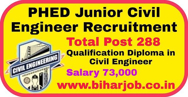 Bihar PHED Junior Civil Engineer Job 2020