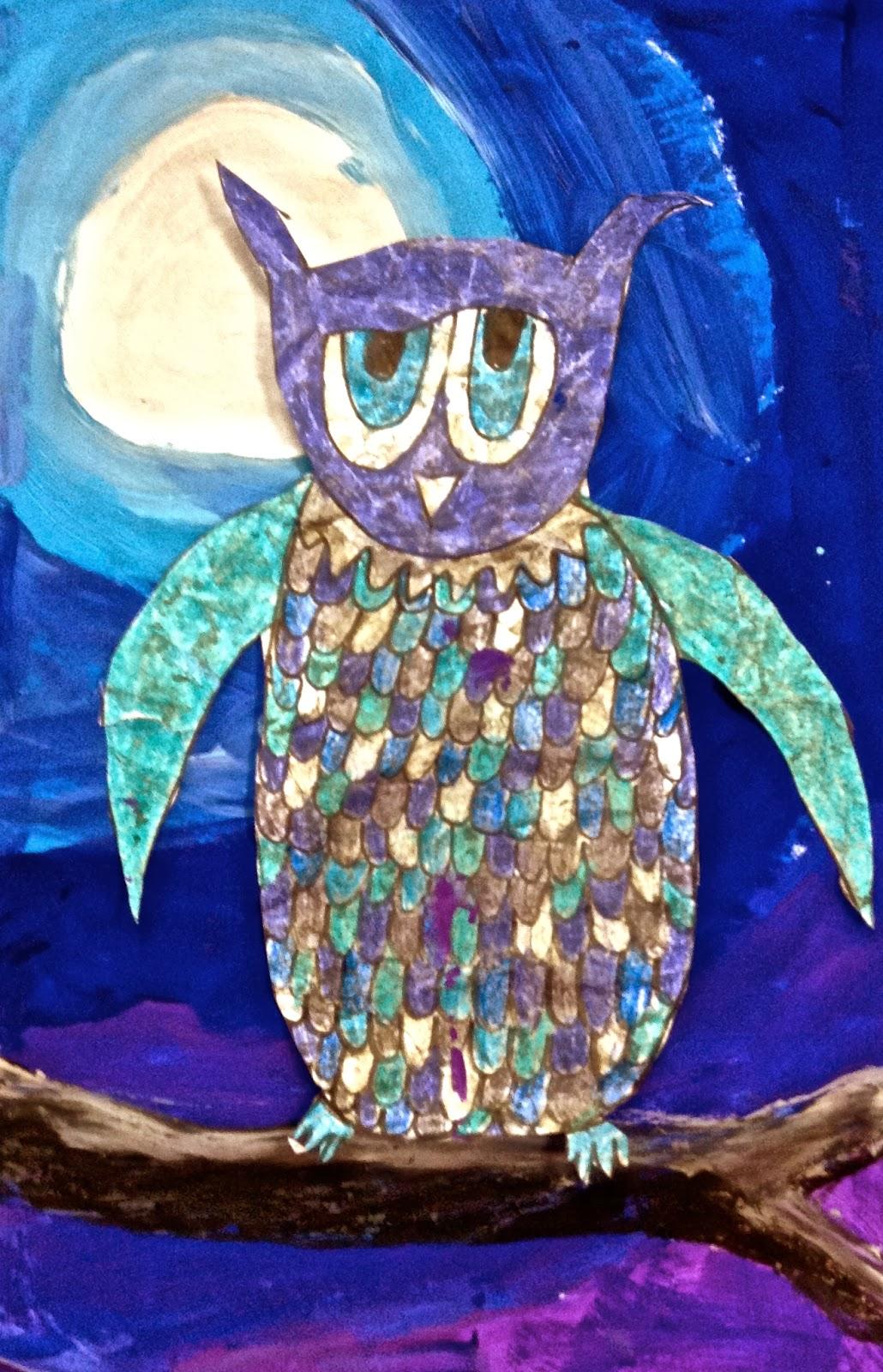 Art Eat Tie Dye Repeat 3rd Grade Owl Batik