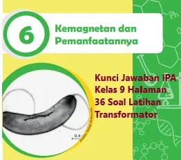 Kunci-Jawaban-IPA-Kelas-9-Halaman-36-Bab-6-Soal-Latihan-Transformator