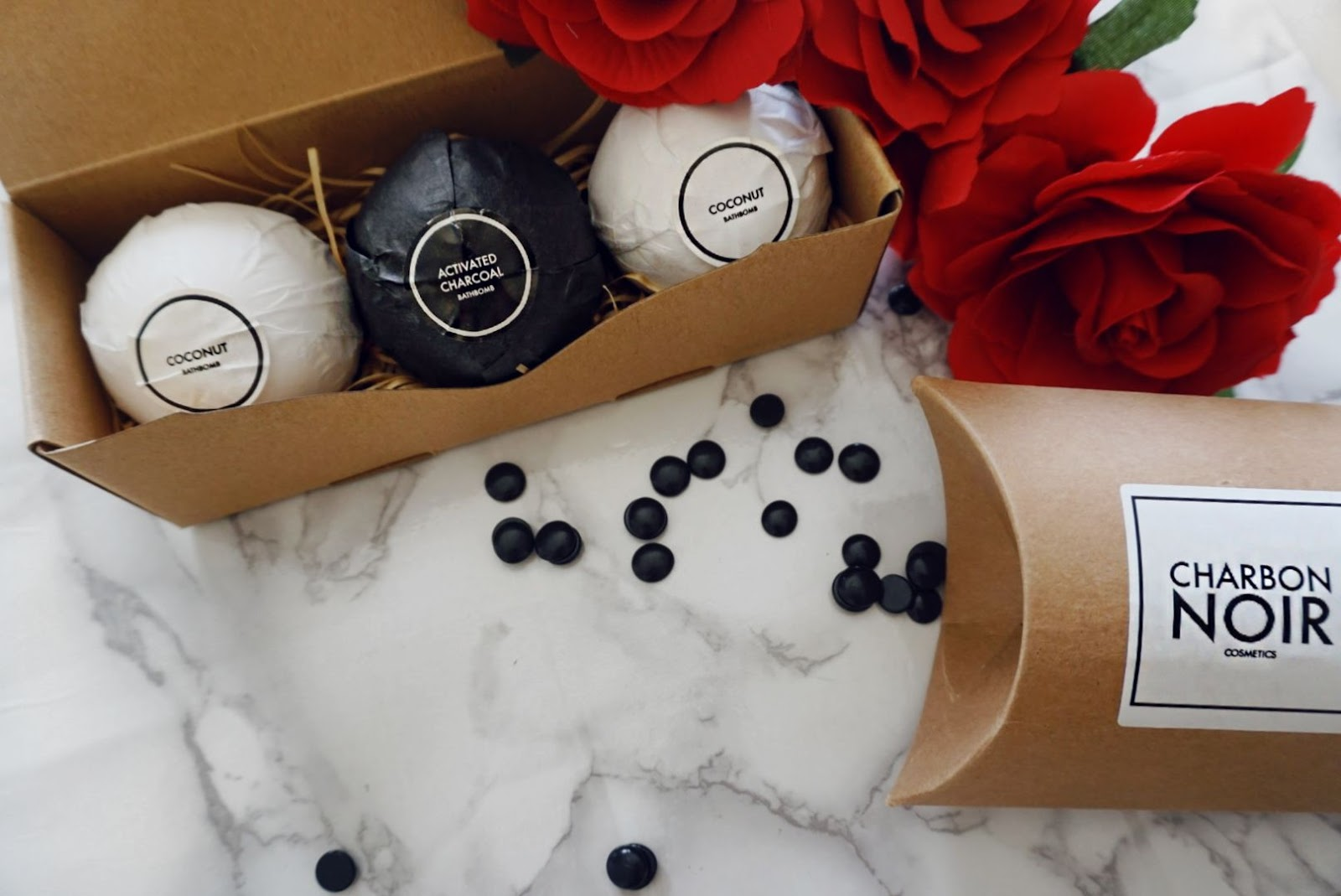 INDULGE AND RELAX WITH THE CHARCOAL ACTIVATED BATH BOMBS BY CHARBON NOIR COSMETICS