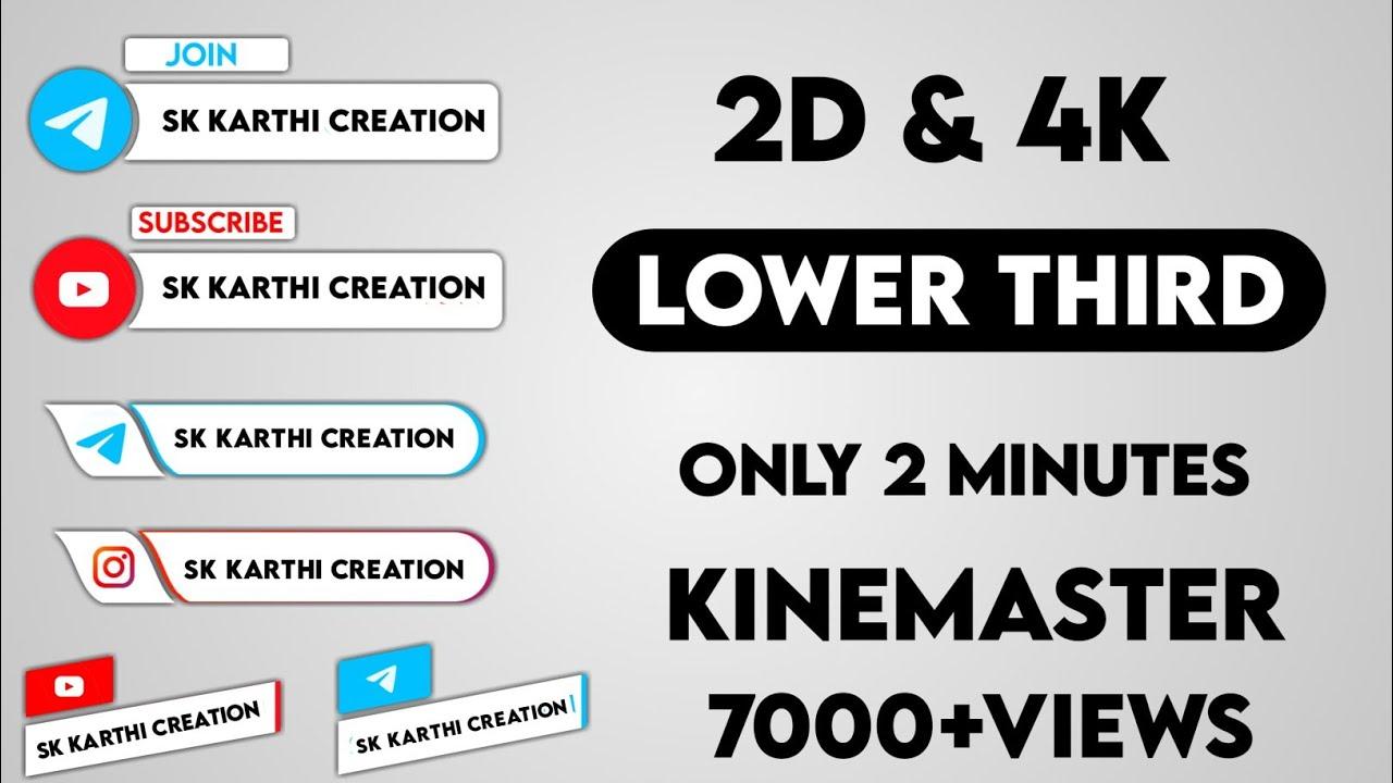 How To Create Lower Third Animation 4k Telegram Trending Lower Third Animation Kinemaster