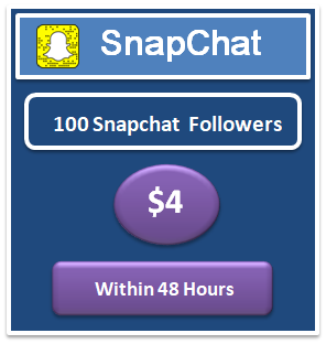 100 buy real Snapchat Followers