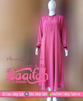 Model Gamis Muslimah Tsaqifah Peach