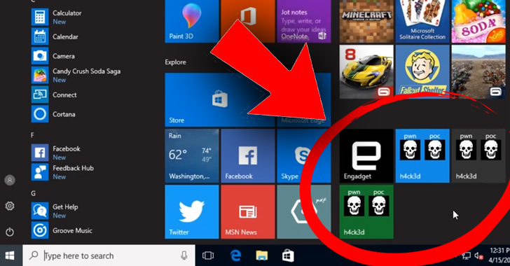 windows live tiles microsoft azure