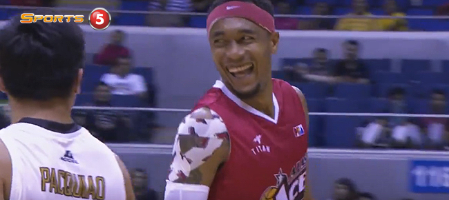 Calvin Abueva Hits 3-pointers Over Senator Manny Pacquiao! (VIDEO)
