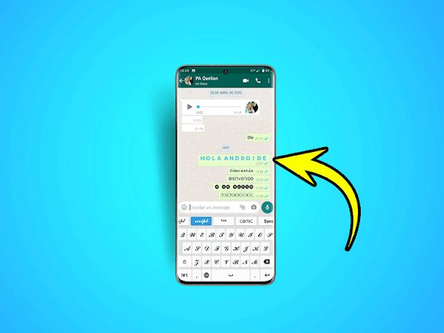 أفضل خدعة WhatsApp لتغيير طريقة الكتابة في التطبيق