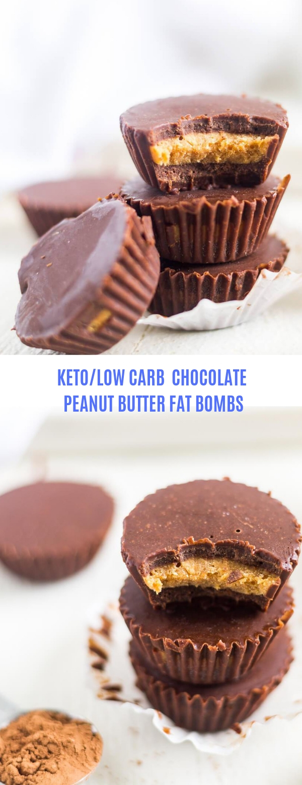 KETO/LOW CARB CHOCOLATE PEANUT BUTTER FAT BOMBS