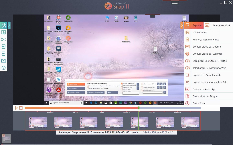 تحميل برنامج ممتازللتقاط أو تحرير ونشر لقطات شاشة سطح المكتب ومقاطع الفيديوAshampoo Snap 11.1.0