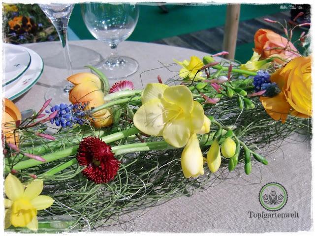 Gartenblog Topfgartenwelt Gartenmesse Blühendes Österreich 2017: Lehrlingswettbewerb der Floristen Bellis und Narzissen