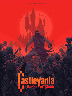 Castlevania: Rondo of Blood Screen Print by Oliver Barrett x Mondo