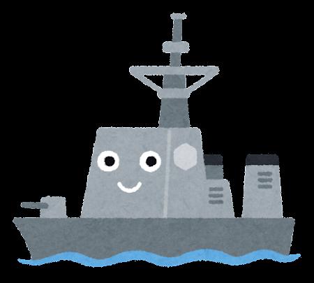 護衛艦のキャラクター