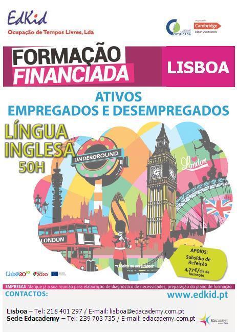 Curso gratuito de Língua Inglesa em Lisboa