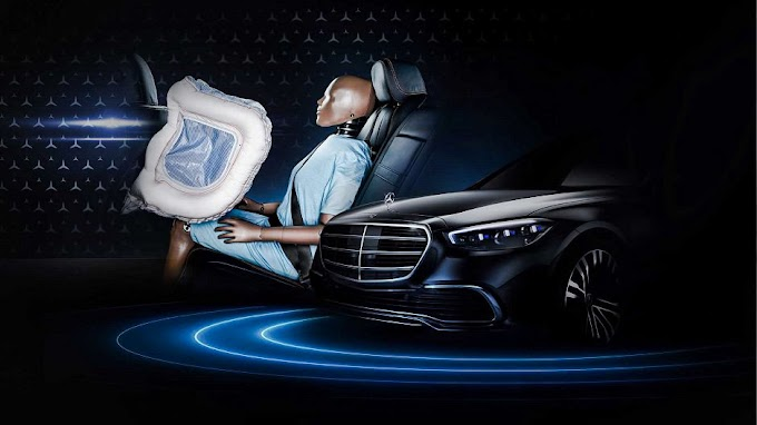 The new airbags in the Mercedes S Class 2021 have the latest technology