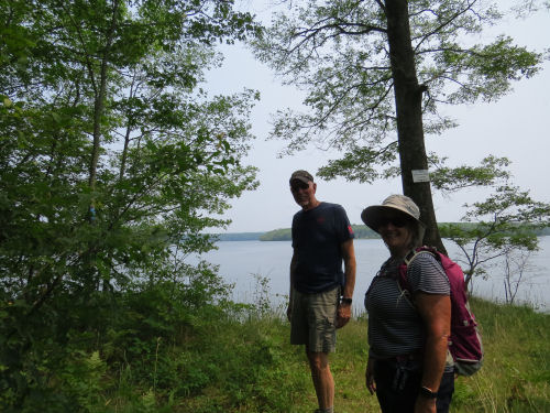 hikers by Hodenpyl Dam Pond