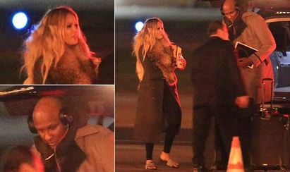 lamar Odom and Khloe Kardashian after his coma hospial stay