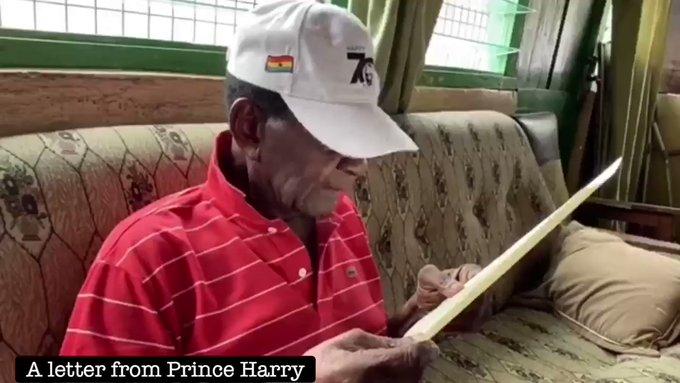Prince Harry praises Ghanaian World War II veteran