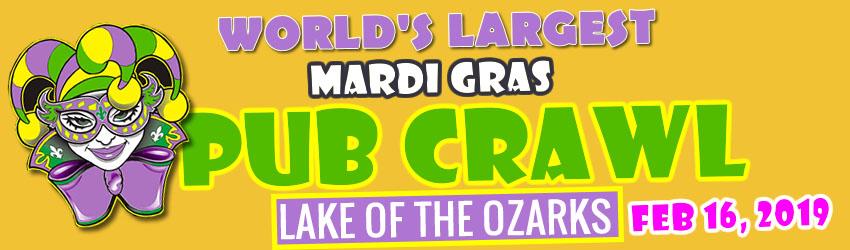 Lake of the Ozarks Mardi Gras Pub Crawl