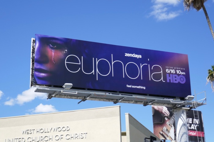 Zendaya Euphoria HBO billboard