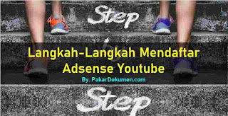 Langkah cara mendaftar google adsense youtube