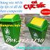 Sản xuất thùng rác 60 lít nắp lật, thùng rác 90 lít nắp lật đế đá, nhựa composite  giá rẻ call 0984423150 – Huyền