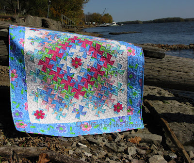 quilt by the river