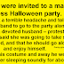 She thinks her husband is cheating on her at the Halloween party