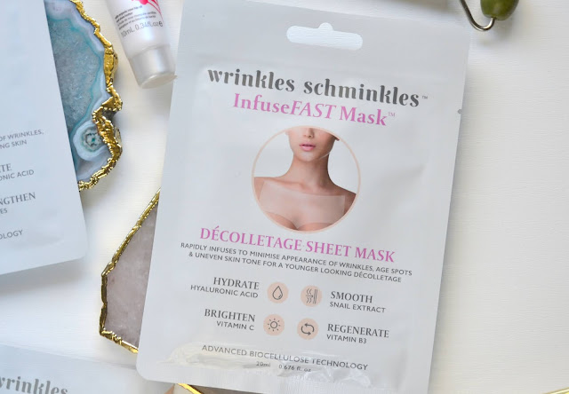 Wrinkles Schminkles InfuseFAST Facial and Decolletage Sheet Mask